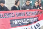 ösym'yi protesto